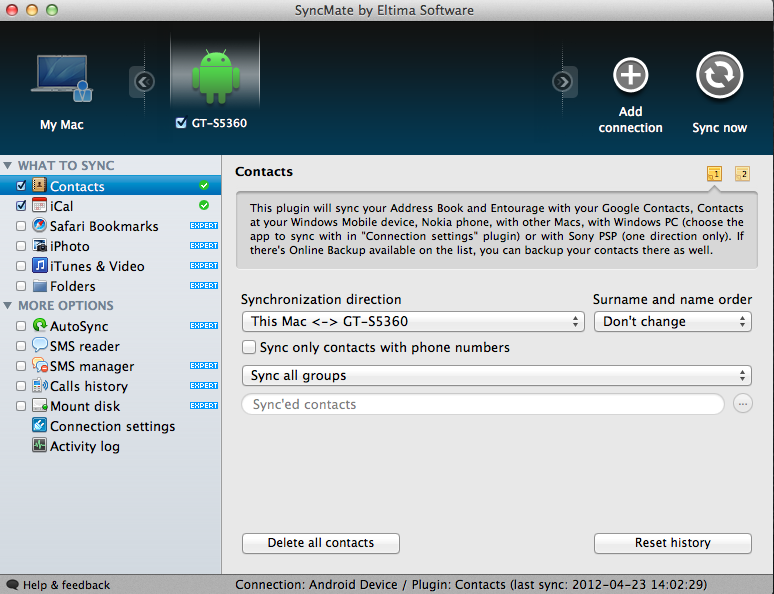 SyncMate (Mac - Android)